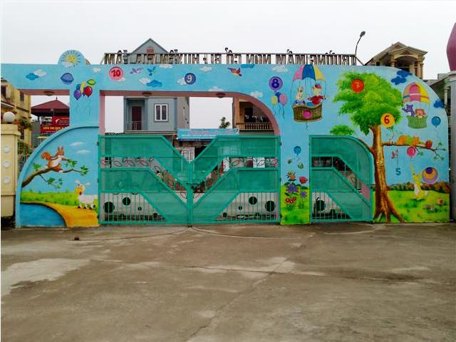 Tranh Tường Trường Mầm Non Cổ Bi