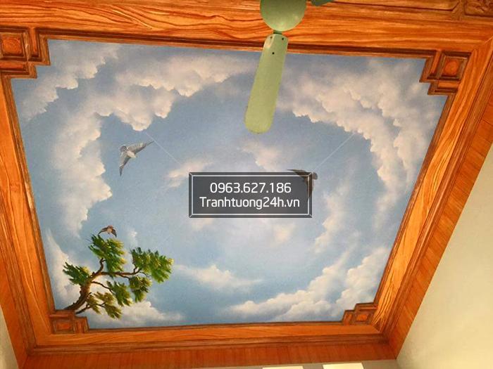 Trang trí Vẽ trần mây