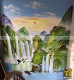 vẽ tranh tường phong cảnh thiên nhiên đẹp