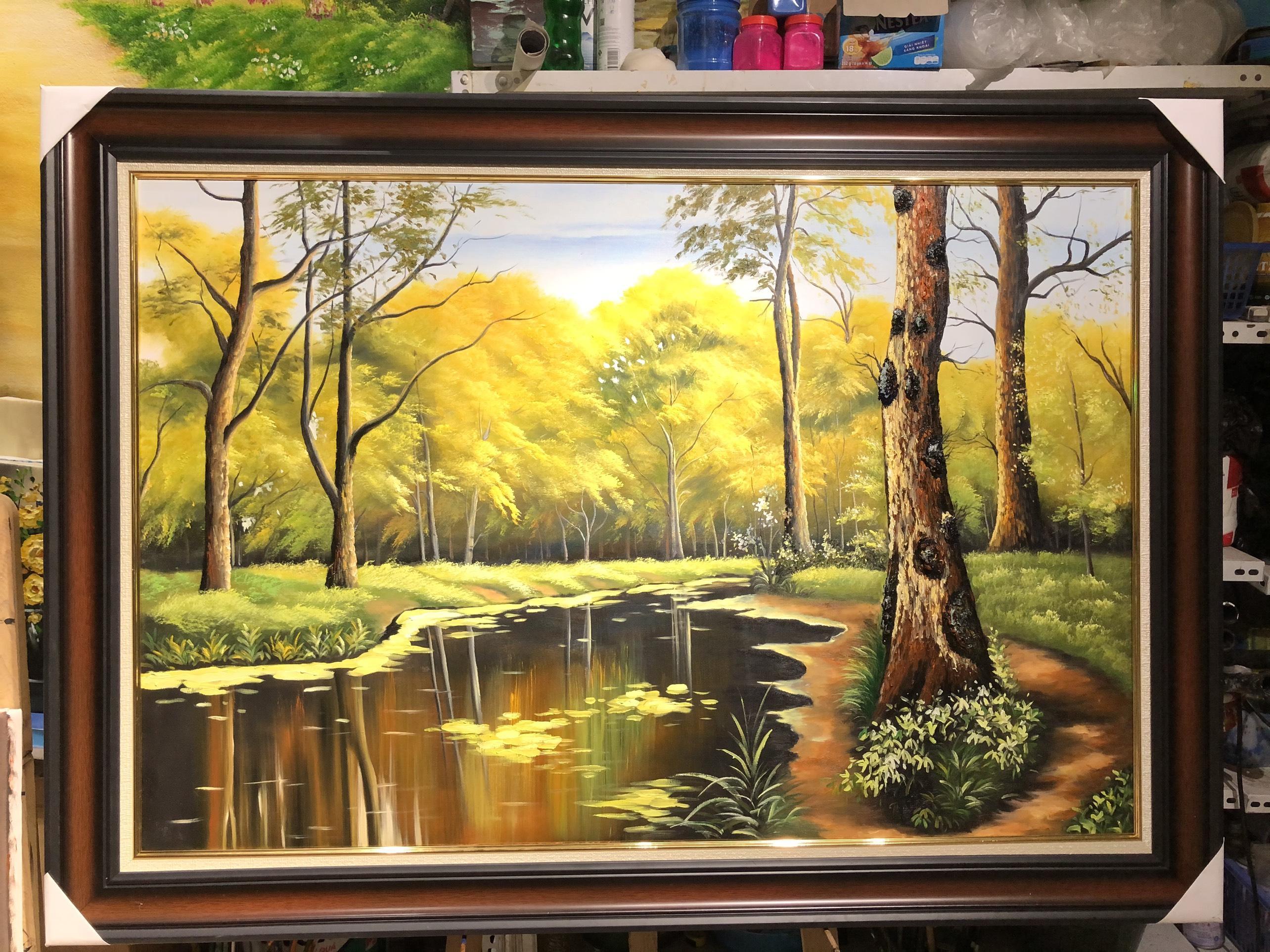 Tranh Phong Cảnh Rừng Vàng