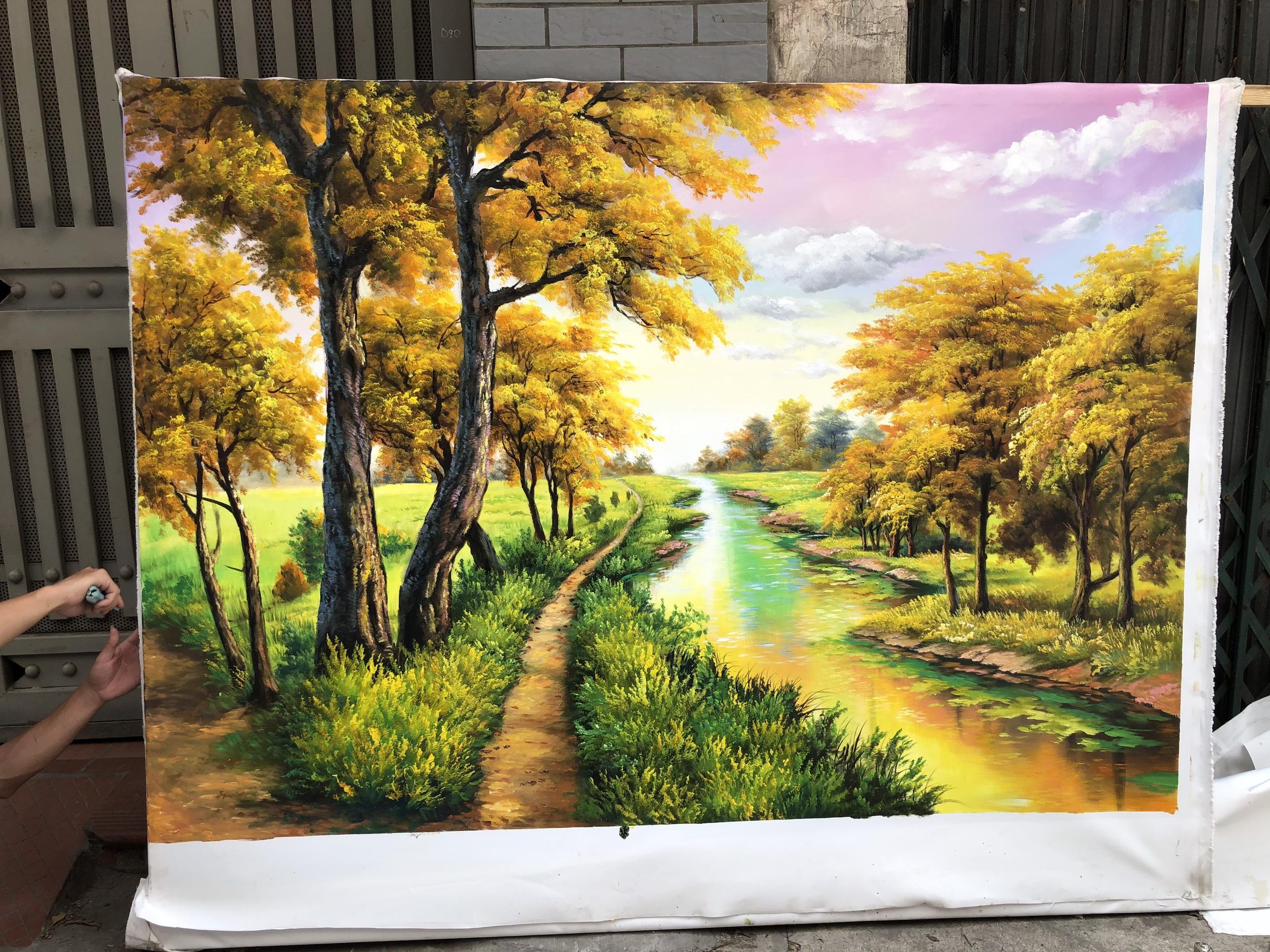 Tranh Phong Cảnh Rừng Suối