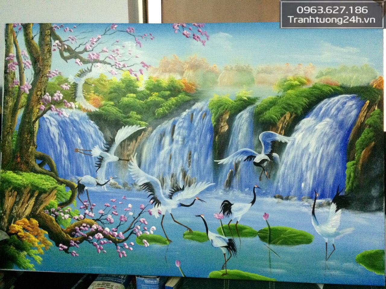 Tranh Phong Cảnh Cò Bay