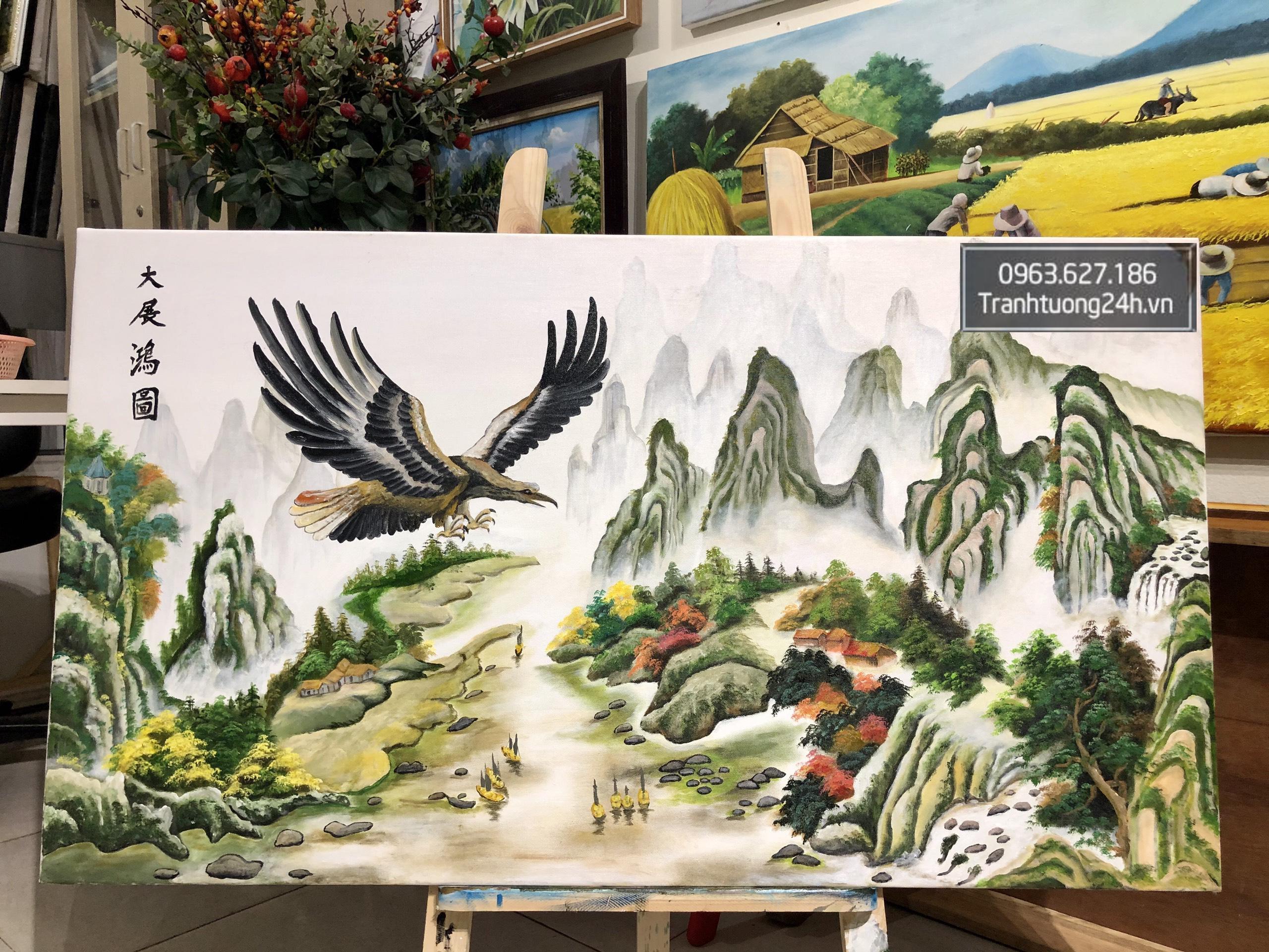 Tranh Phong Cảnh Chim Ưng