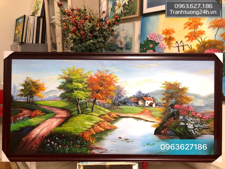 Tranh Phong Cảnh Mùa Thu Đẹp