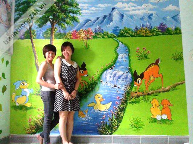 Vẽ tranh tường phòng bé - Bắc Ninh