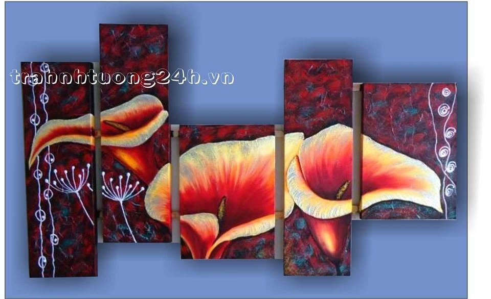 Tranh bộ hoa Poppy - Chủ đề hoa thể loại ấn tượng