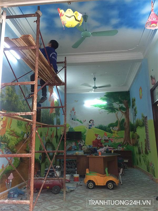 Tranh tường trường mầm non Nắng Mai, Nguyễn Xiển, Thanh Xuân, Hà Nội