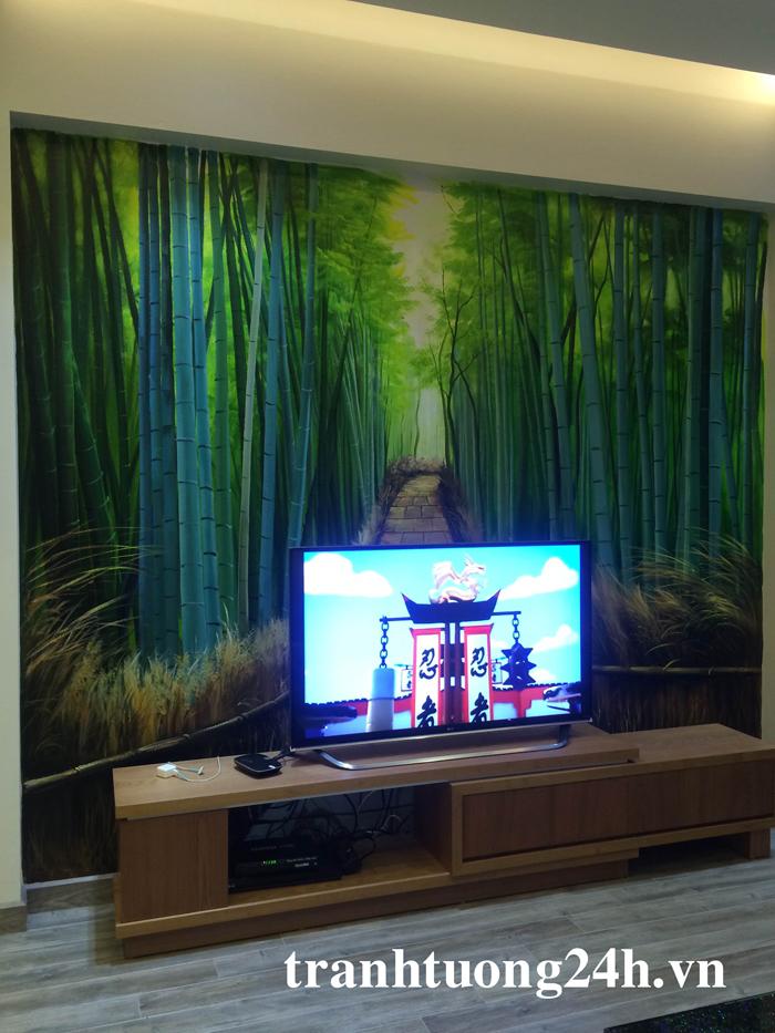 Vẽ Tranh Tường 3D - phòng 301 toà nhà Green House Khu Đô Thị Việt Hưng.Long Biên.HN