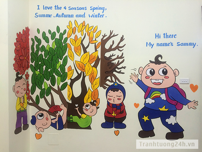Vẽ Trung Tâm Tiếng Anh Tomokid