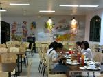 Vẽ tranh tại Căng tin trường thpt Chu Văn An , Thụy Khuê, Tây Hồ, HN