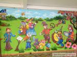 Tranh Tường Trường Mầm Non Mạch Lũng - Đông Anh - HN