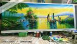 Tranh phong cảnh: Thuận Buồn Xuôi Gió