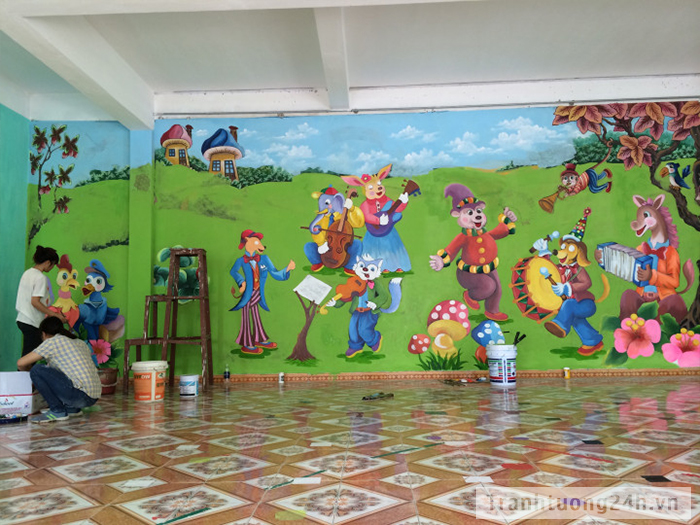 Hệ Thống Tranh Tường Trường Mầm Non Mạch Lũng - Đại Mạch - Mai Châu, Đông Anh, HN