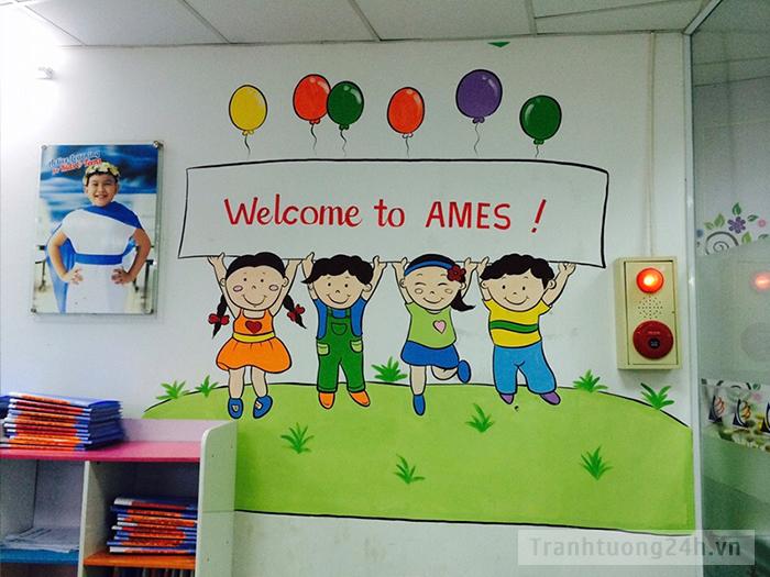 Vẽ tranh cho hệ thống Anh ngữ Quốc tế AMES